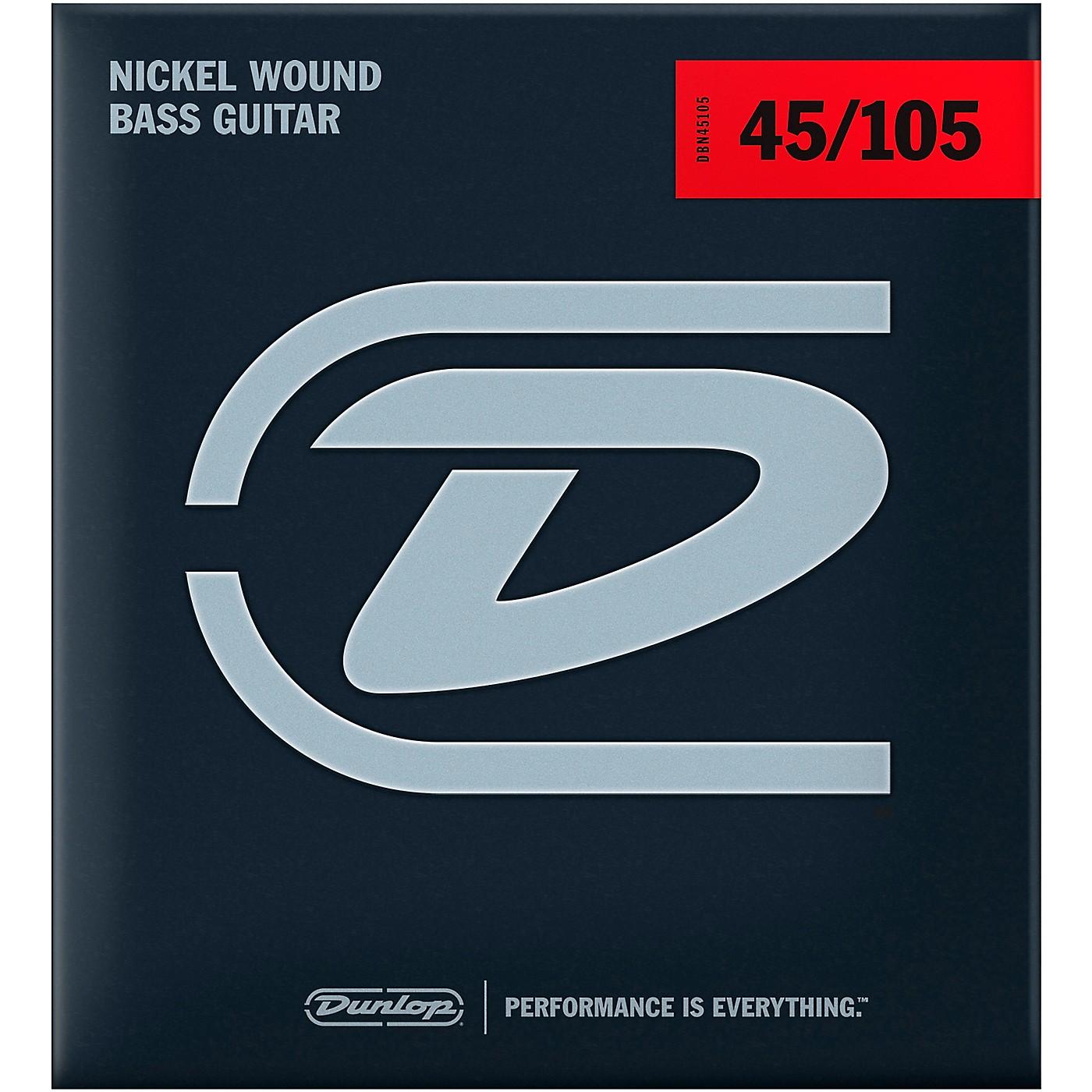 Dunlop DBN45105XL Bass-NKL 45/105 Extra-Long Scale 4-String Set thumbnail