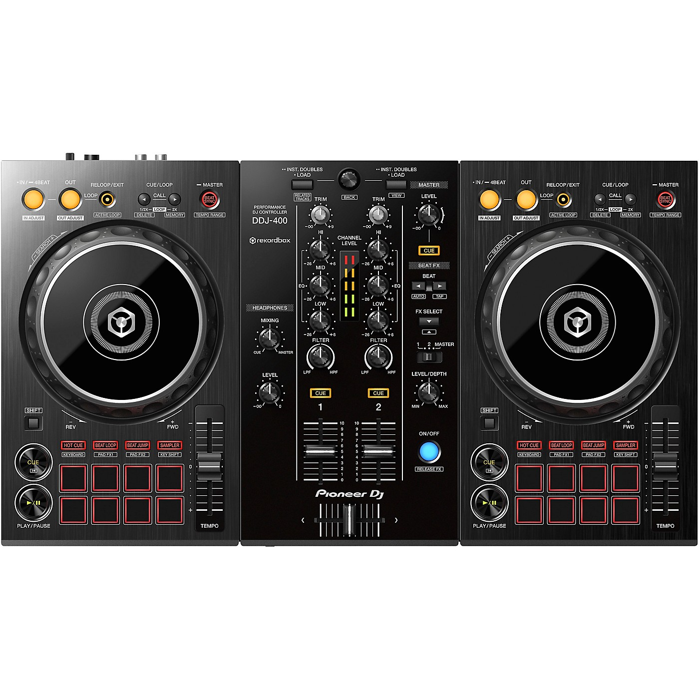 Pioneer DDJ-400 2-Channel DJ Controller for rekordbox dj thumbnail