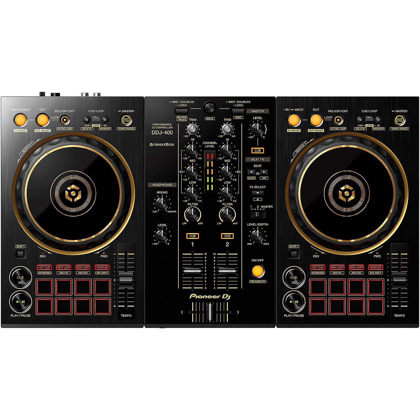 Pioneer DJ DDJ-400-N Limited Edition Gold 2-Channel DJ Controller for rekordbox dj thumbnail