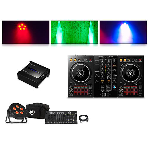 Pioneer DDJ-400 Performance Controller with RB-DMX1 Lighting Controller and ADJ Ultra Quad Pak Pro thumbnail
