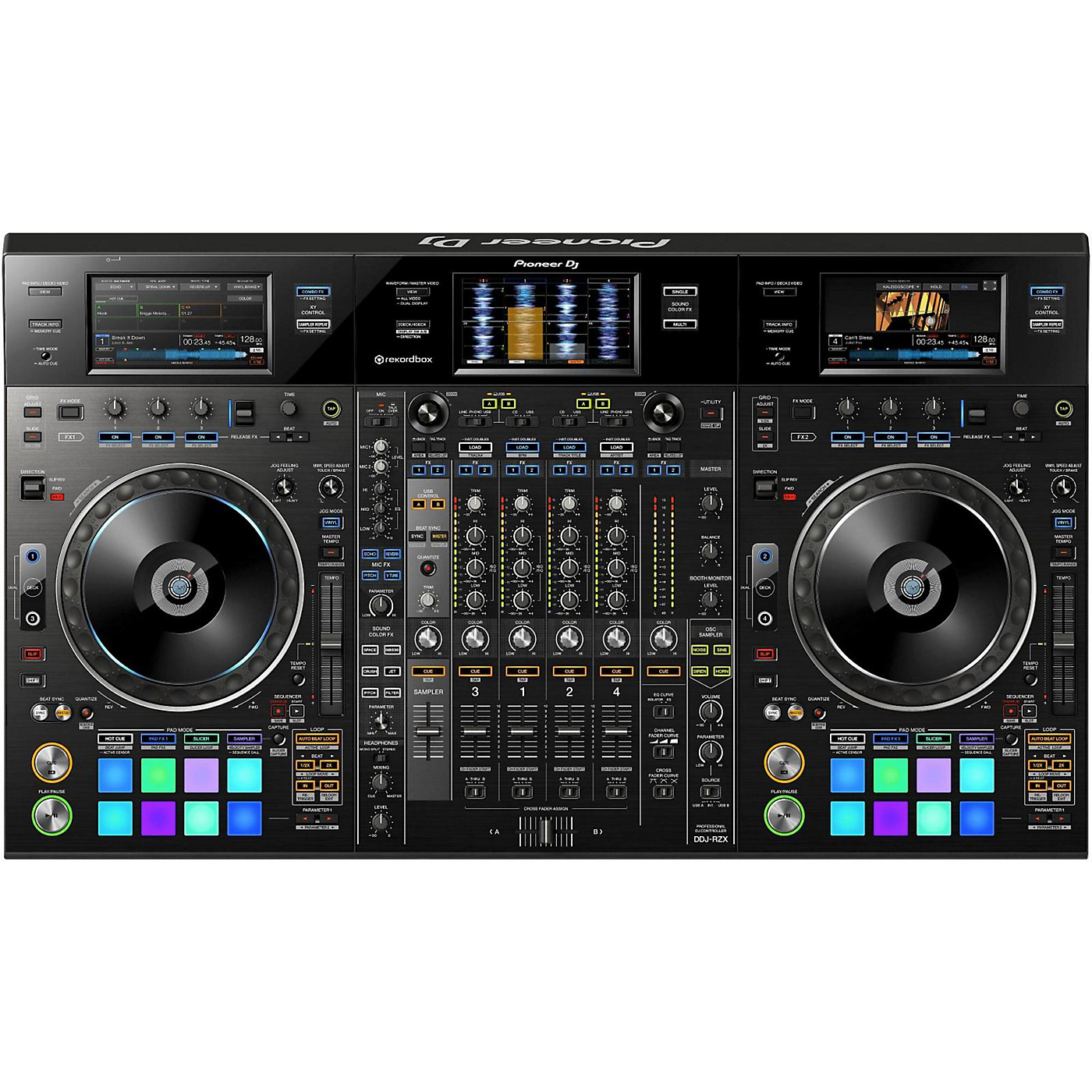 Pioneer DDJ-RZX 4-Channel Controller for rekordbox dj and recordbox video thumbnail