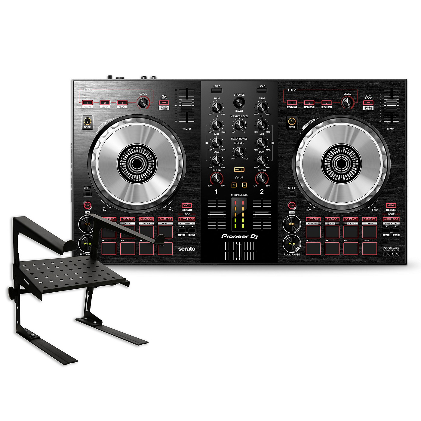 Pioneer DDJ-SB3 Serato DJ Controller with Laptop Stand thumbnail