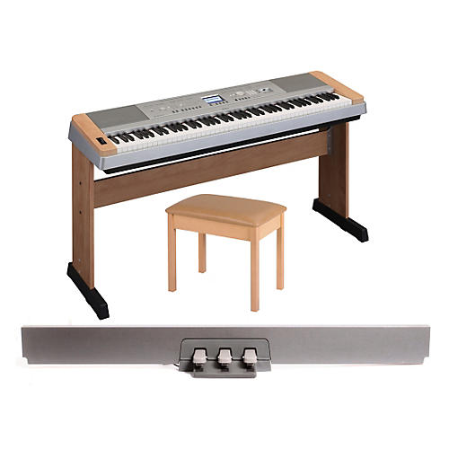 Yamaha DGX 640 88-Key Digital Piano with WB2 Padded Bench & LP-7 Pedal Unit thumbnail