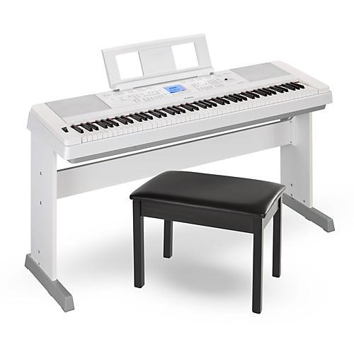 Yamaha DGX660 88-Key Portable Grand Piano White with Bench thumbnail