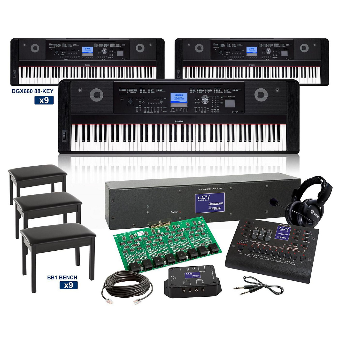 Yamaha DGX660 88-key Grand LC4 Keyboard Lab thumbnail