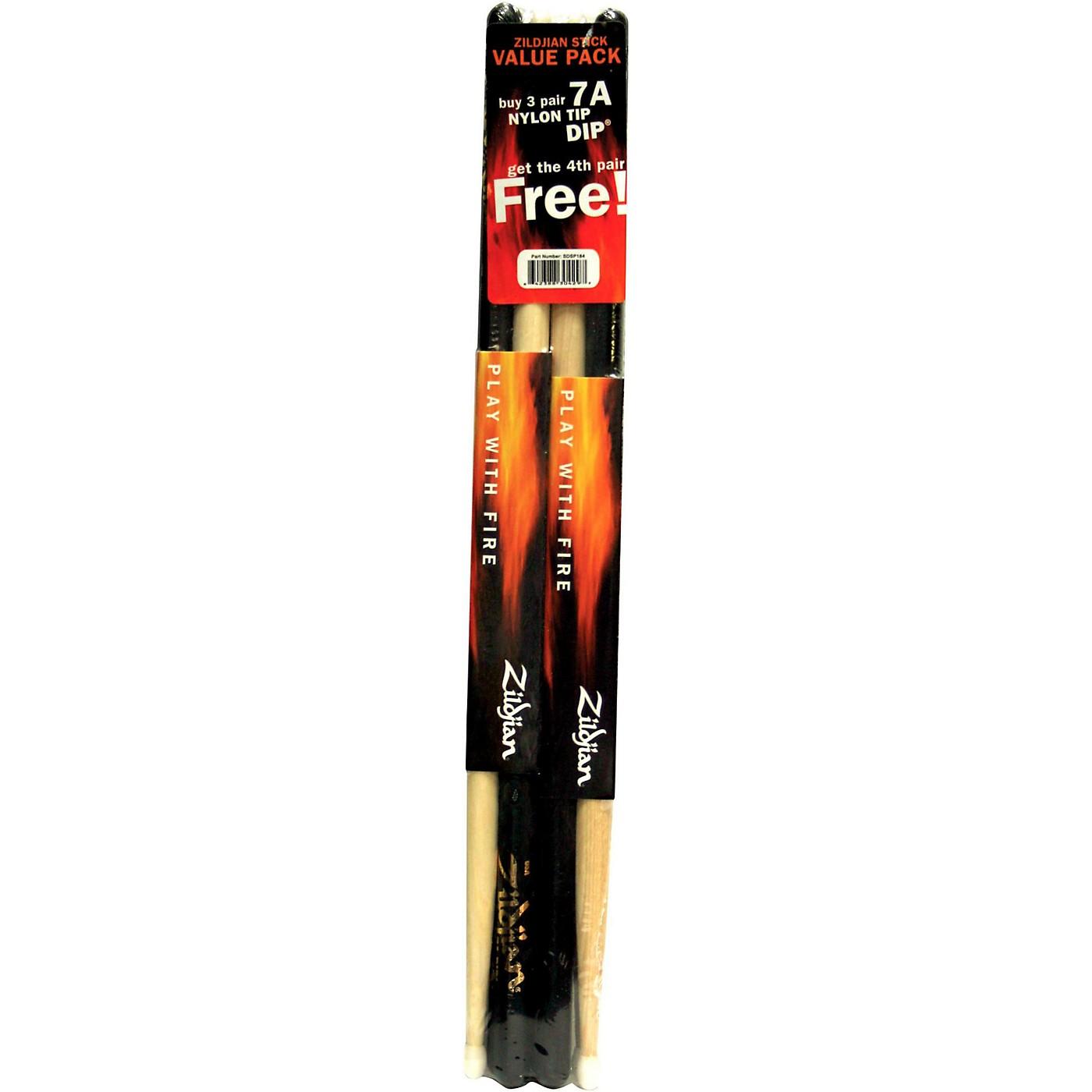 Zildjian DIP Wood Drum Sticks -  Buy 3 Pairs, Get 1 Pair Free, Black thumbnail