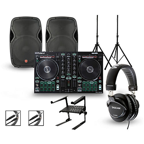 Roland DJ-202 with Harbinger V1015 DJ Package thumbnail