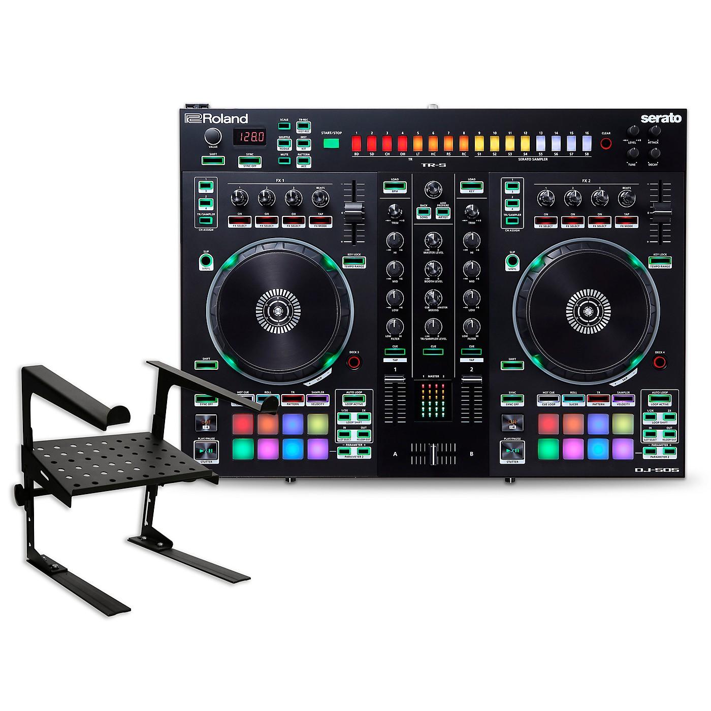 Roland DJ-505 DJ Controller with Laptop Stand thumbnail