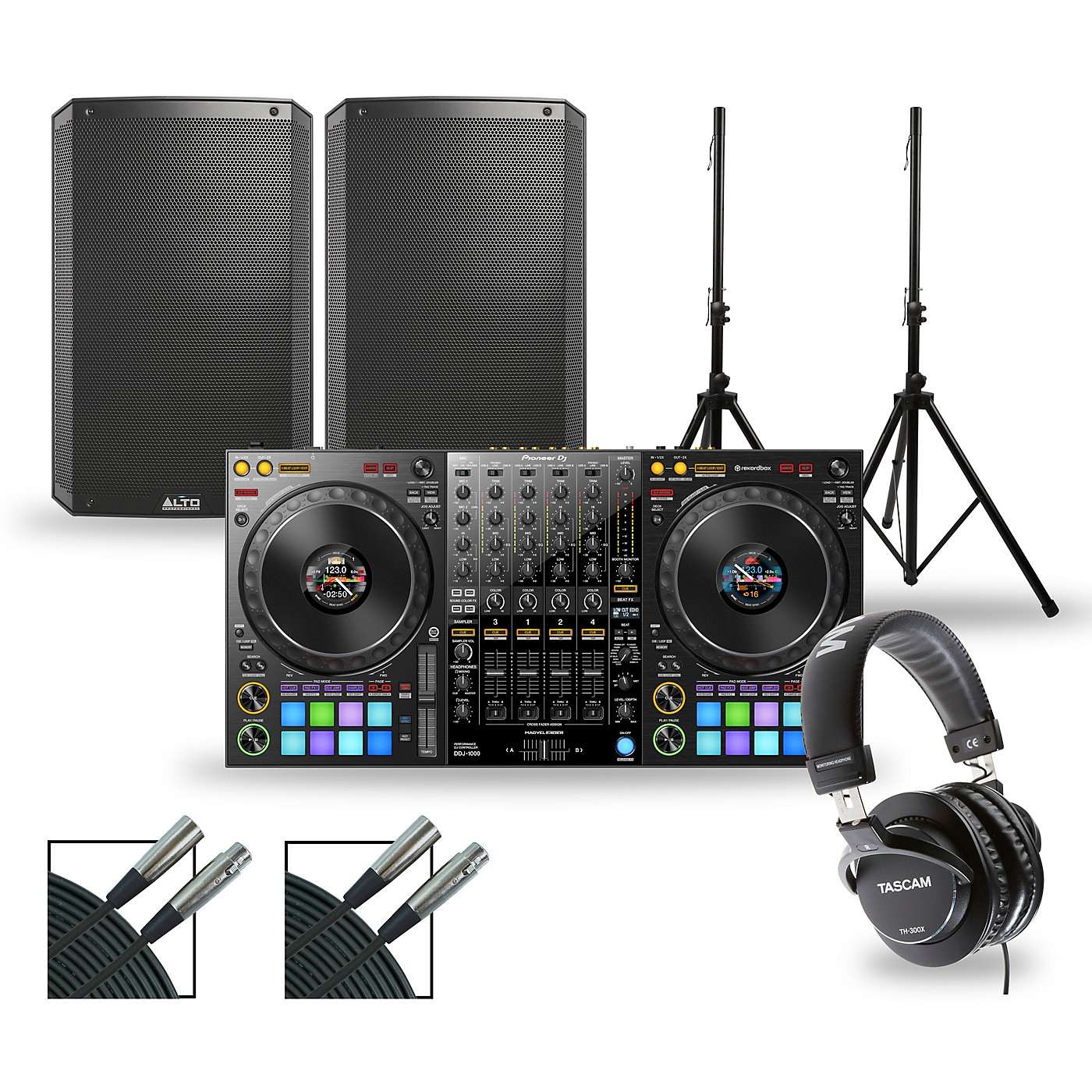 Pioneer DJ DJ Package with DDJ-1000 Controller and Alto TS3 Series Speakers thumbnail
