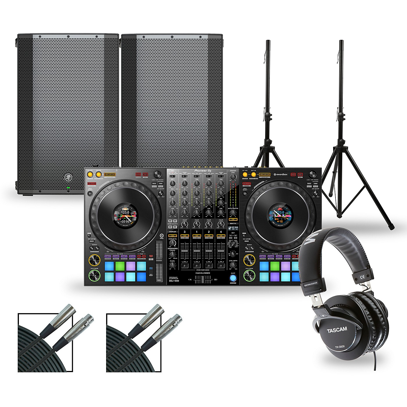 Pioneer DJ DJ Package with DDJ-1000 Controller and Mackie Thump Boosted Speakers thumbnail