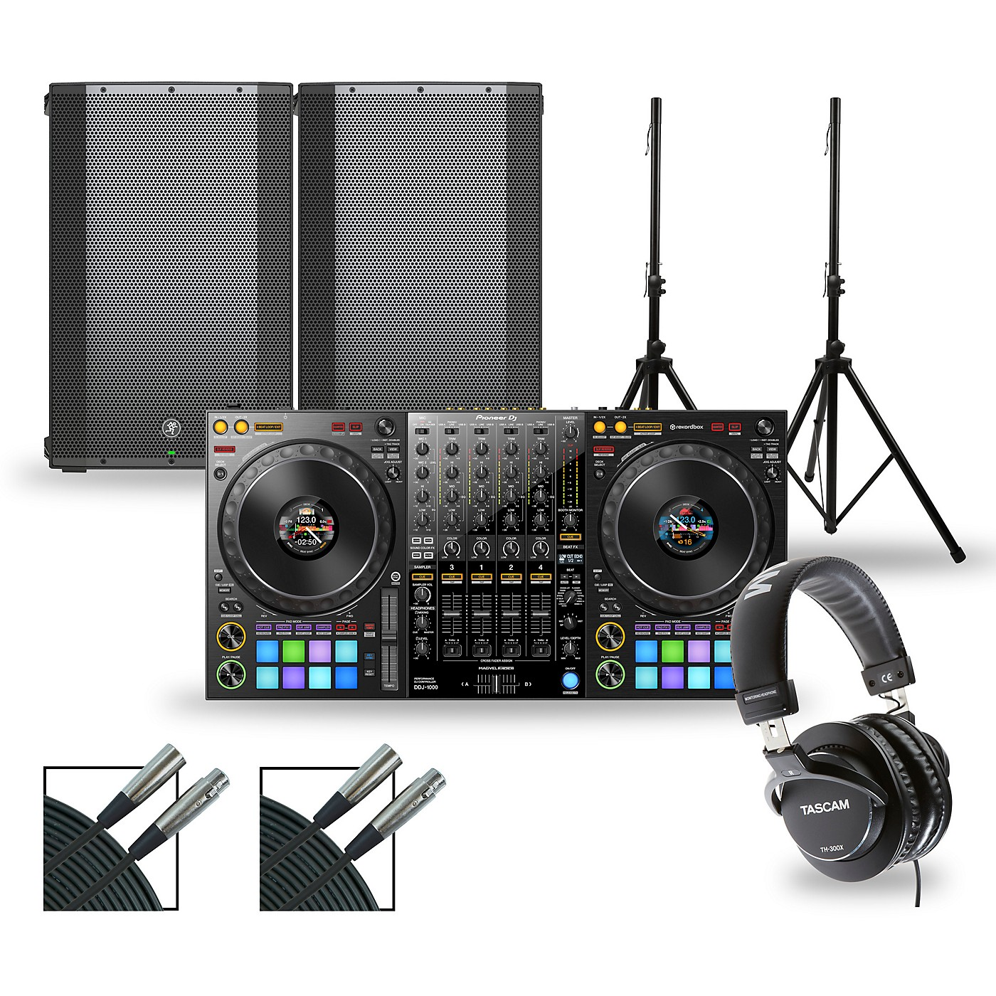 Pioneer DJ DJ Package with DDJ-1000 Controller and Mackie Thump Series Speakers thumbnail