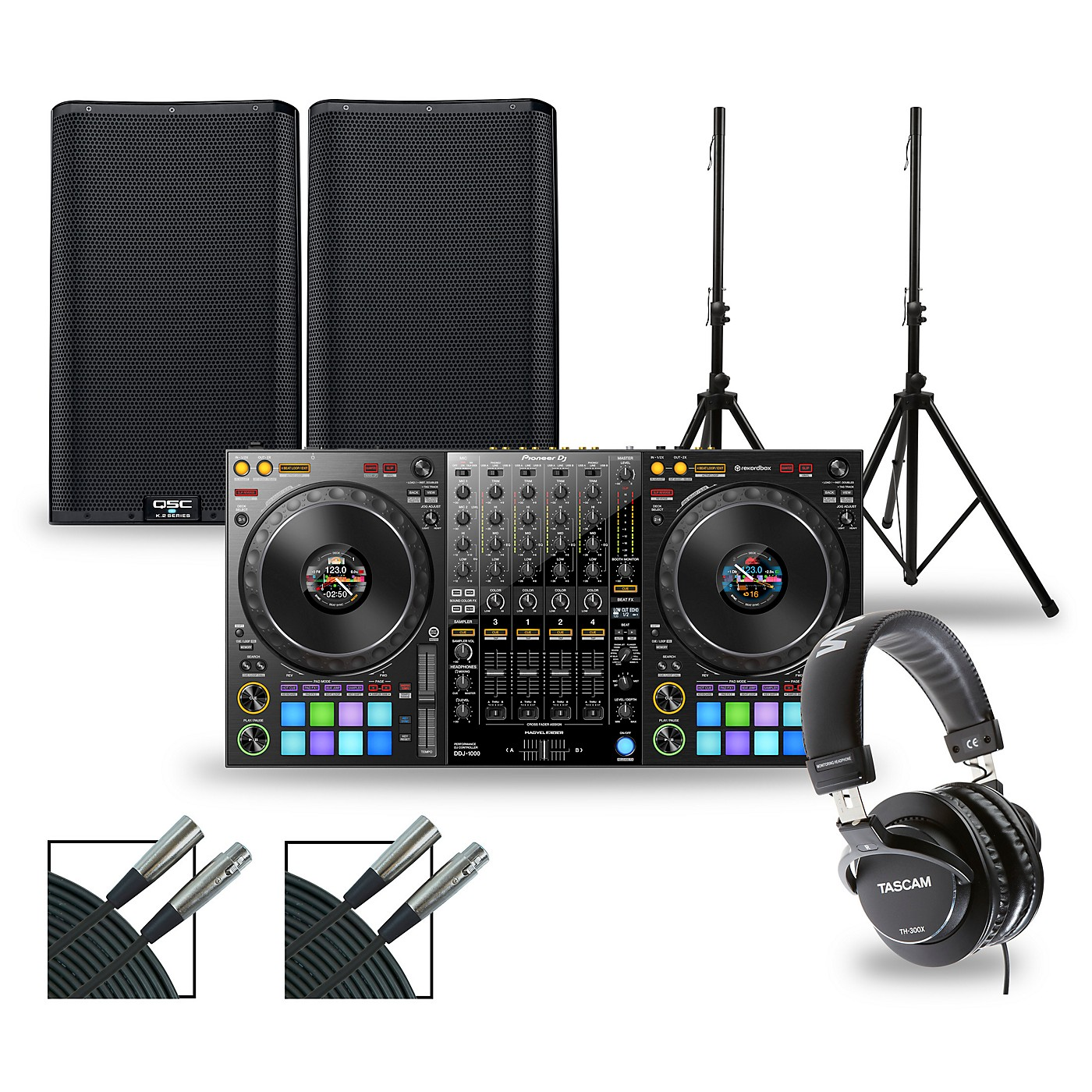 Pioneer DJ DJ Package with DDJ-1000 Controller and QSC K.2 Series Speakers thumbnail