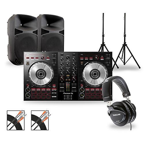 Pioneer DJ Package with DDJ-SB3 Controller and Gemini HPS BLU Series Speakers thumbnail