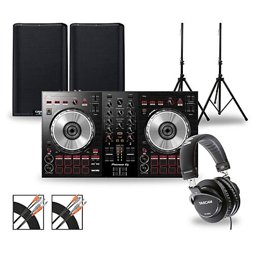 Pioneer DJ Package with DDJ-SB3 Controller and QSC K.2 Series Speakers thumbnail