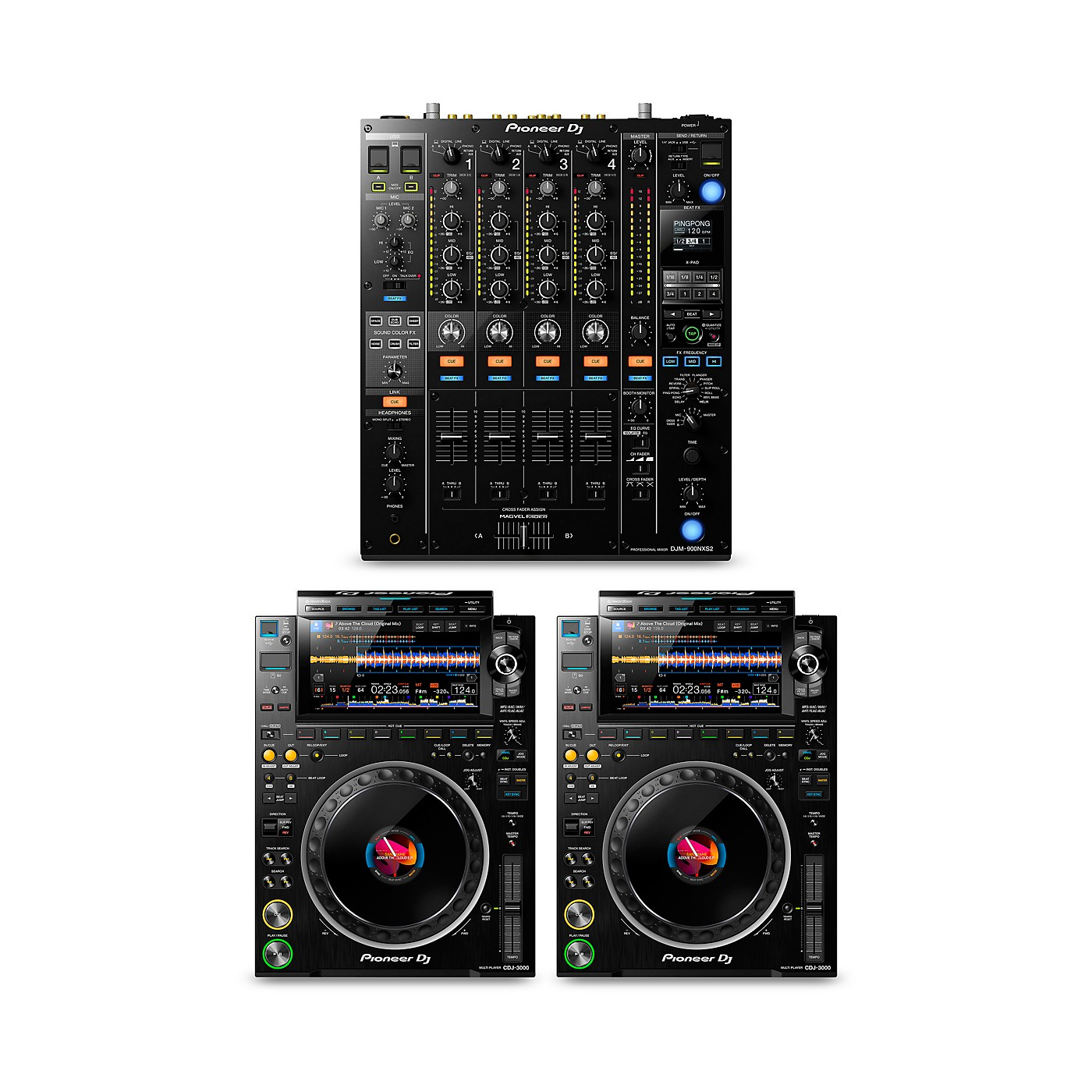 Pioneer DJ DJ Package with DJM-900NXS2 Mixer and CDJ-3000 Media Players thumbnail
