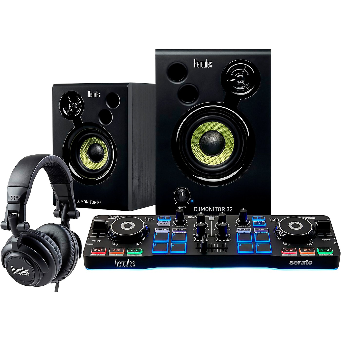 Hercules DJ DJ Starter Kit with Controller, Speakers and Headphones thumbnail