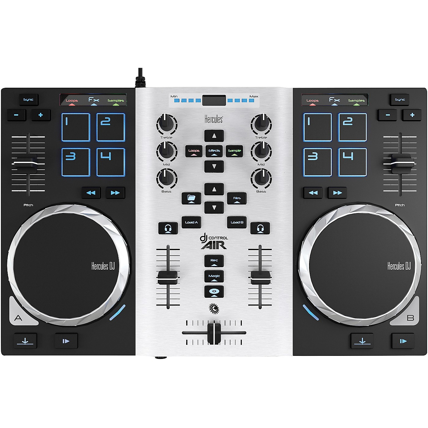 Hercules DJ DJControl Air S DJ Controller Party Pack with LED Light thumbnail
