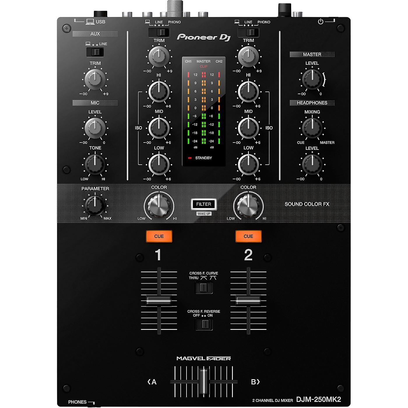 Pioneer DJM-250MK2 2-channel DJ Mixer with rekordbox thumbnail