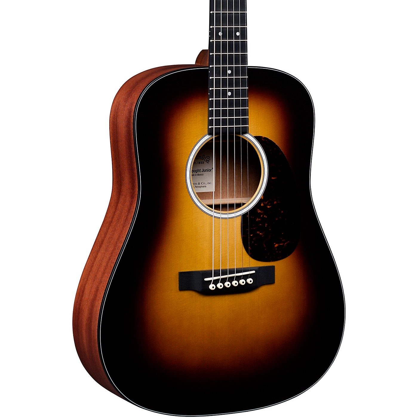 Martin DJr-10E Burst Dreadnought Junior Acoustic-Electric Guitar thumbnail