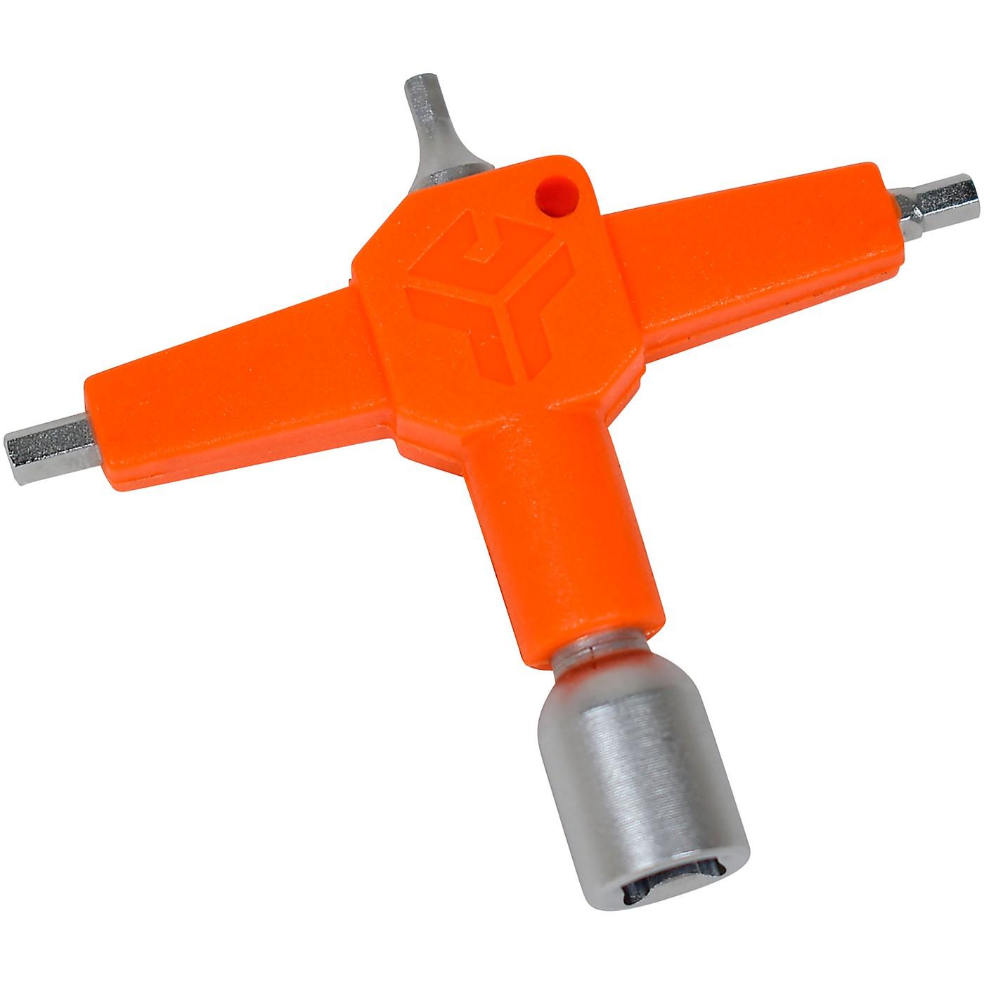GROOVETECH TOOLS, INC. DK Multi 4-in-1 Drum Key Multi-Tool Orange/Sanded Nickel thumbnail