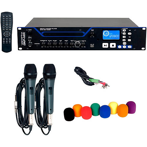 VocoPro DKP-MIX PLUS Digital Karaoke Player with Mixer, Microphone and Windscreen thumbnail