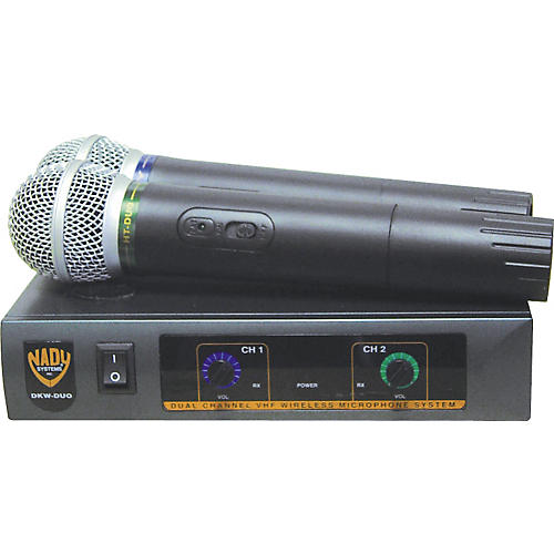 Nady DKW-Duo Dual Channel VHF Handheld Microphone System thumbnail