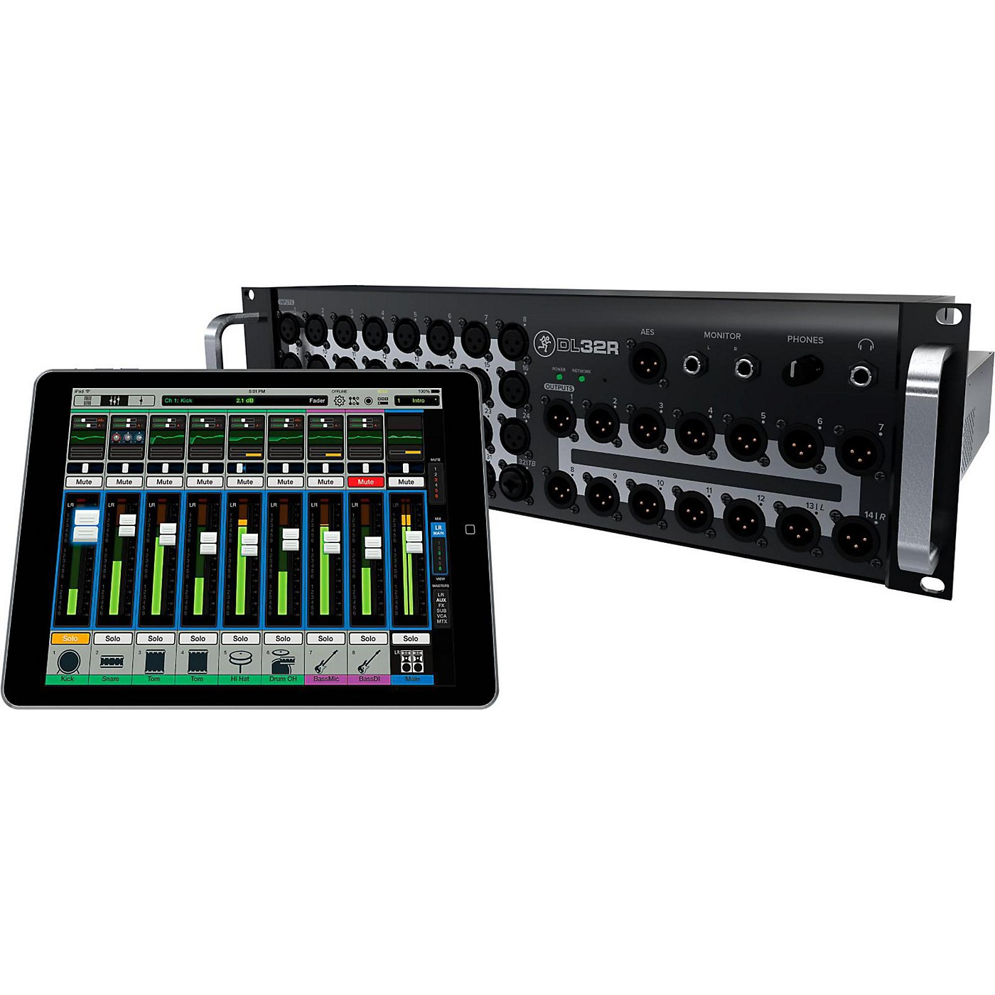 Mackie DL32R 32-Channel Wireless Digital Live Sound Mixer with iPad Control thumbnail