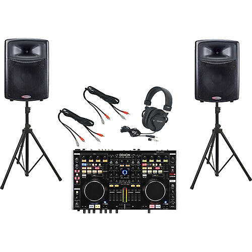 Denon DN-MC6000 / Harbinger APS15 DJ Package-thumbnail