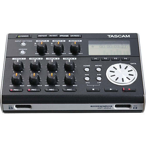 Tascam DP-004 Portable 4-track Digital Multi-track Recorder-thumbnail