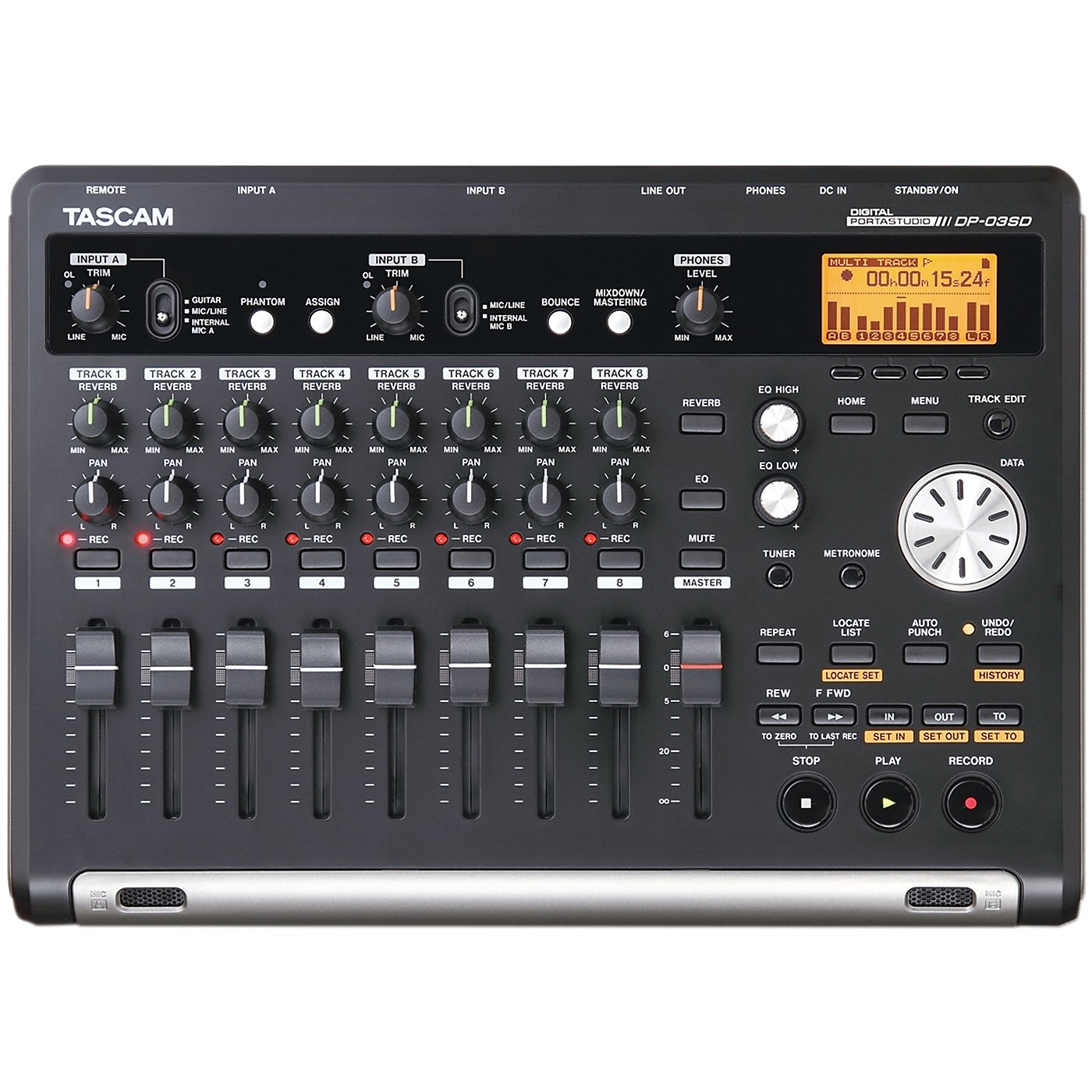 Tascam DP-03SD 8-Channel Portastudio thumbnail