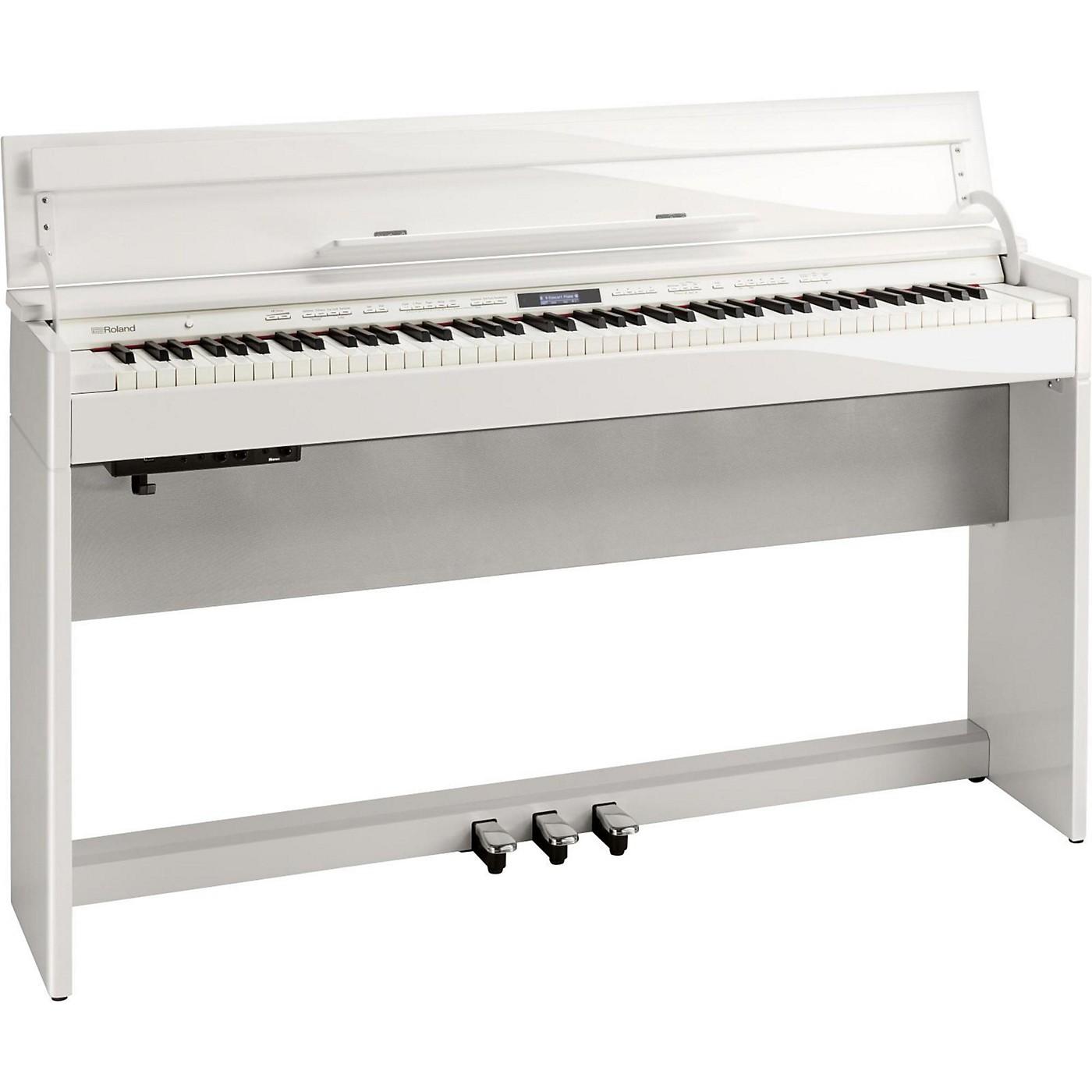 Roland DP603 Digital Home Piano Polished White thumbnail
