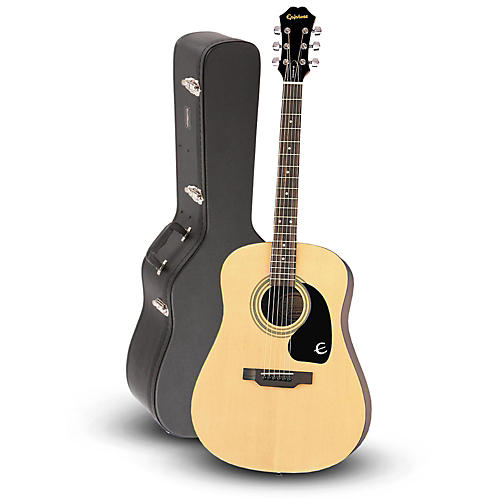 Epiphone DR-100 Acoustic Guitar Natural with Road Runner RRDWA Case thumbnail