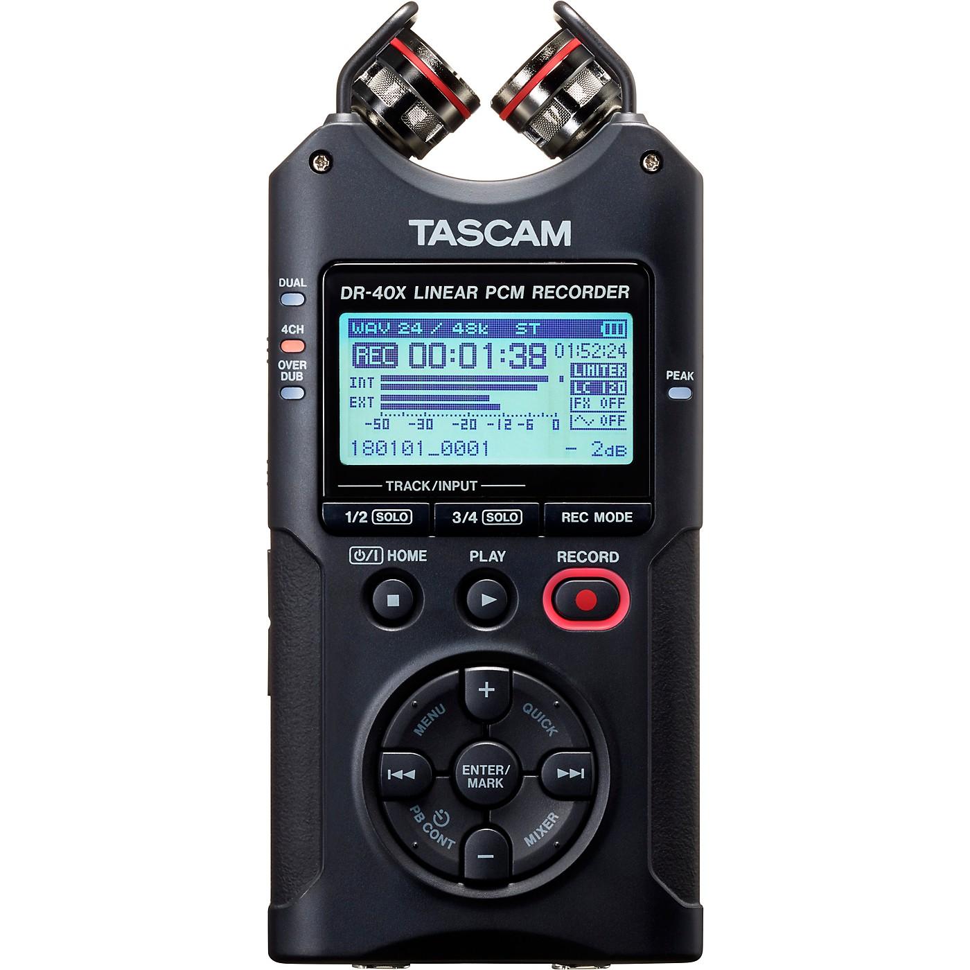 Tascam DR-40X Portable Digital Recorder thumbnail