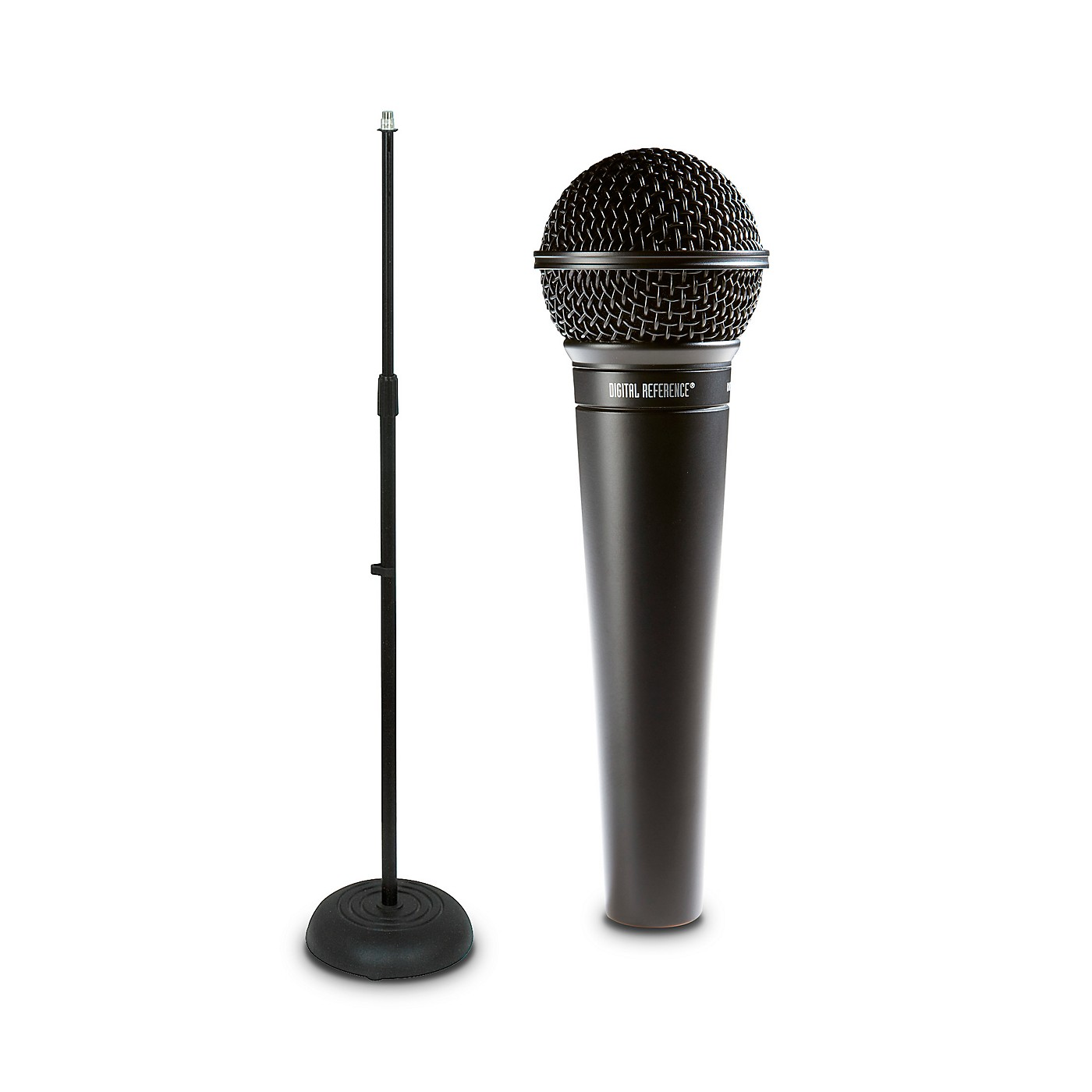 Digital Reference DRV100 Dynamic Cardioid Handheld Microphone And Mic Stand Package thumbnail