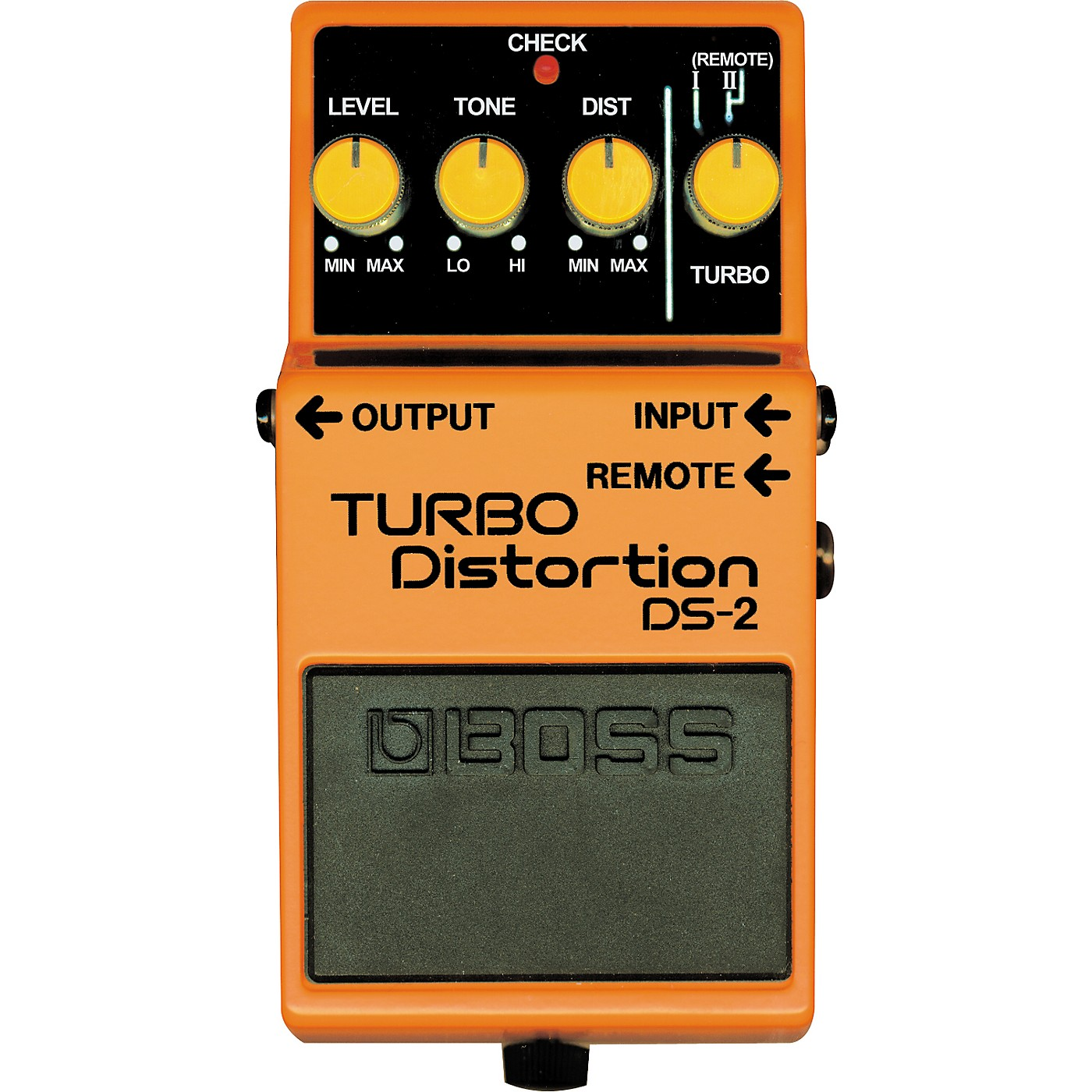 Boss DS-2 Turbo Distortion Pedal with Remote Jack thumbnail