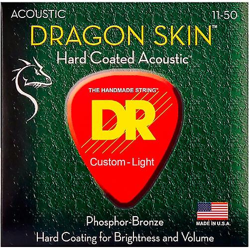 DR Strings DSA-11 Dragon Skin K3 Coated Acoustic Strings Medium-Light thumbnail
