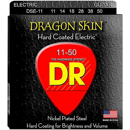 DR Strings DSE-11 Dragon Skin Coated Heavy Electric Guitar Strings thumbnail