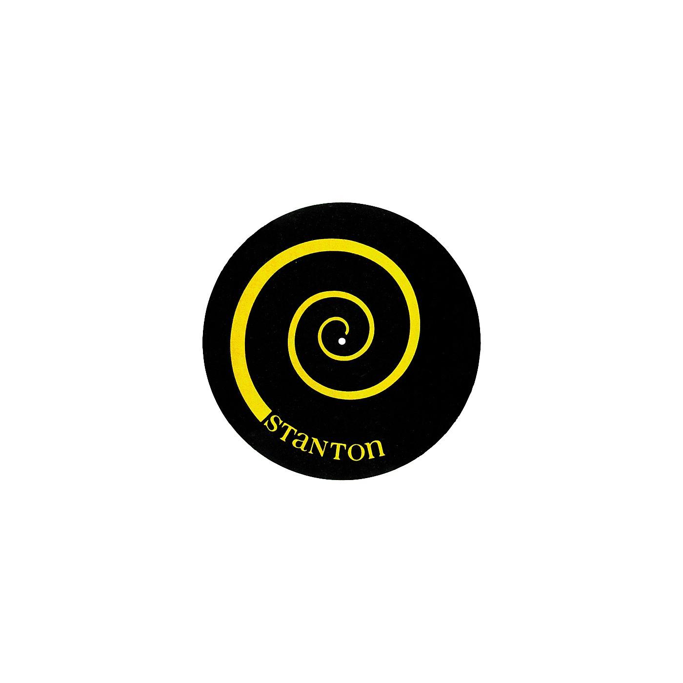 Stanton DSM-6 Yellow on Black Slipmats with Scratch Discs thumbnail