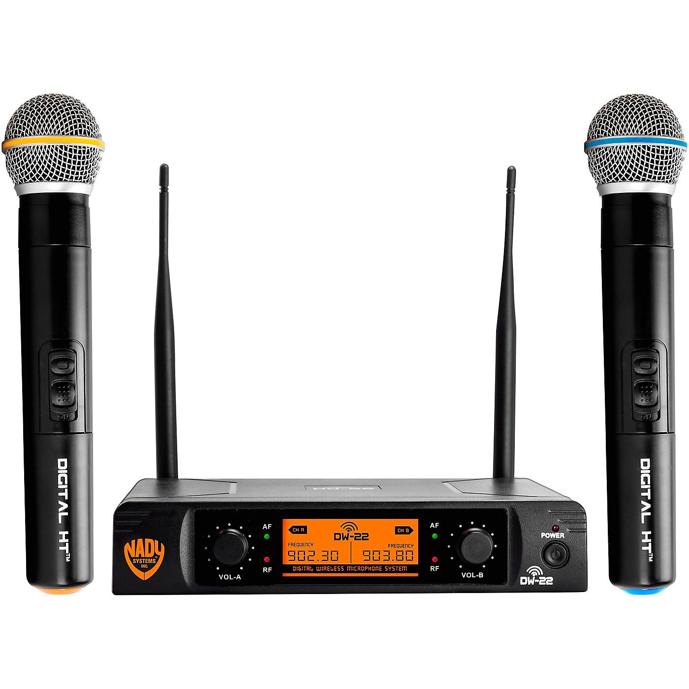 Nady DW-22 HT 24 bit Digital Dual Handheld Wireless Microphone System thumbnail