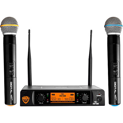 Nady DW-22 HT 24 bit Digital Dual Handheld Wireless Microphone System thumbnail