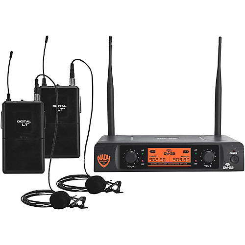 Nady DW-22 LT 24 bit Digital Dual Lapel Wireless Microphone System thumbnail