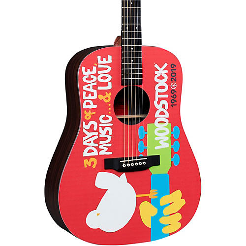 Martin DX Woodstock 50th Anniversary Dreadnought Acoustic-Electric Guitar thumbnail