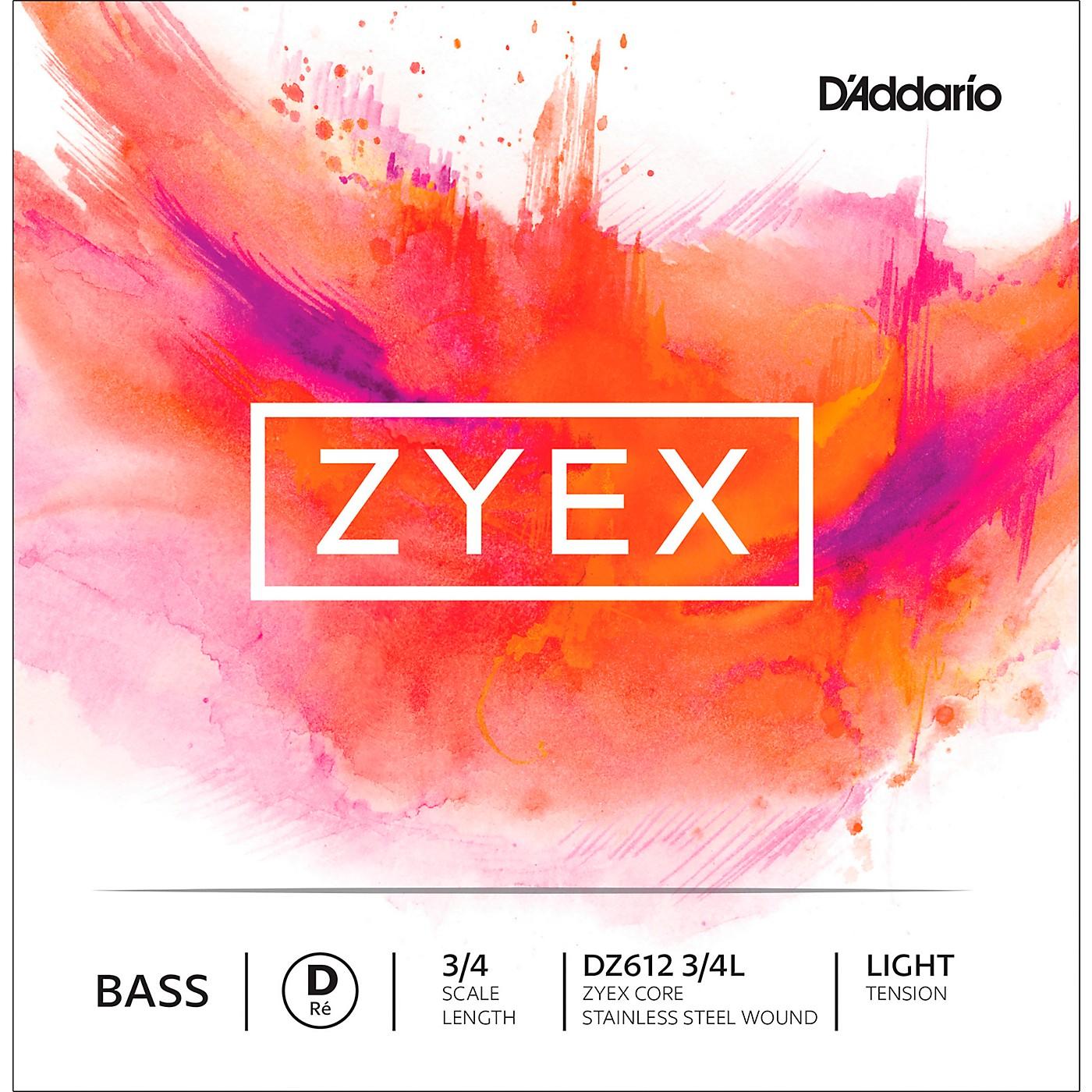 D'Addario DZ612 Zyex 3/4 Bass Single D String thumbnail