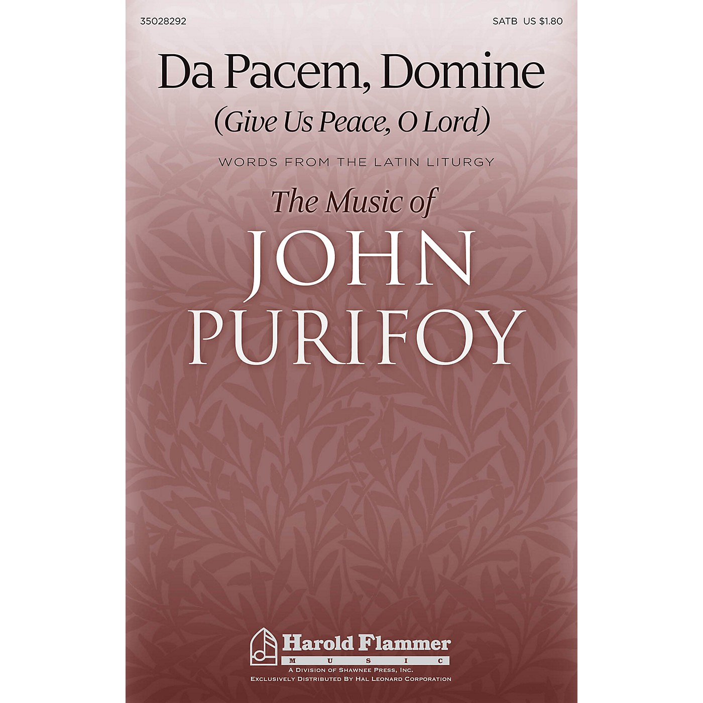Shawnee Press Da Pacem, Domine (Give Us Peace, O Lord) SATB composed by John Purifoy thumbnail