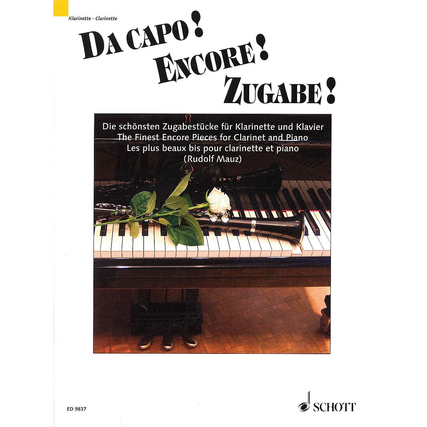 Schott Da capo! Encore! Zugabe! (The Finest Encore Pieces Clarinet and Piano) Schott Series thumbnail