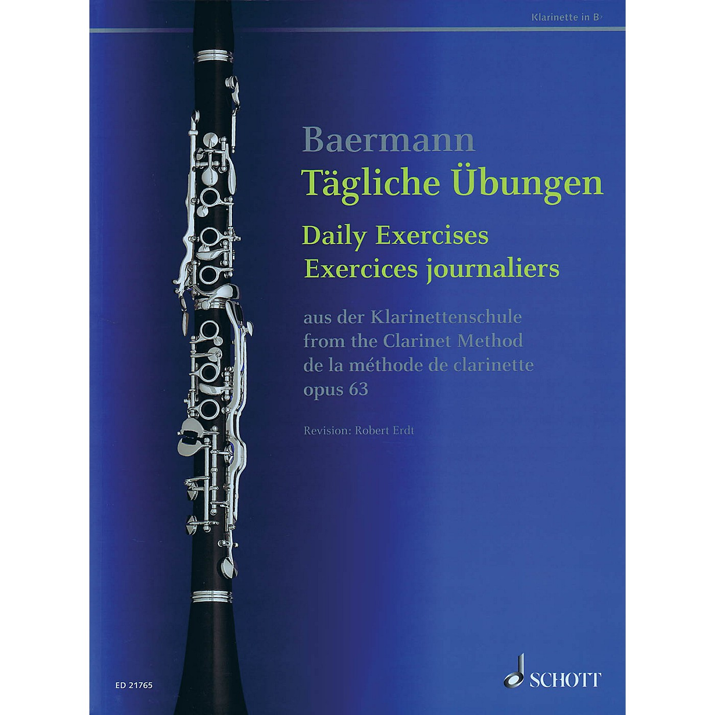Schott Daily Exercises, Op. 63 (from The Clarinet Method) Woodwind Series Softcover thumbnail
