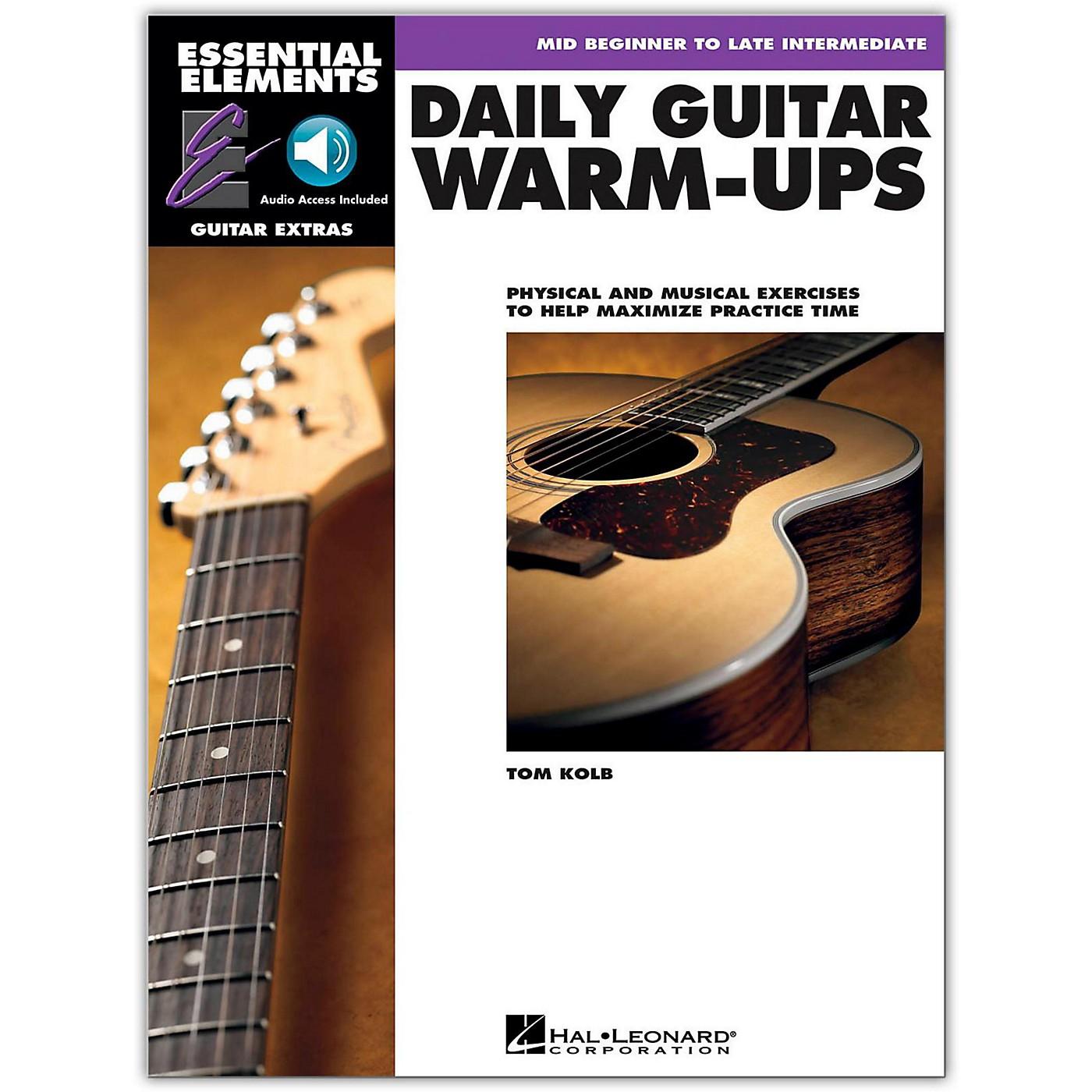 Hal Leonard Daily Guitar Warm-Ups Essential Elements Guitar (Book/Online Audio) thumbnail