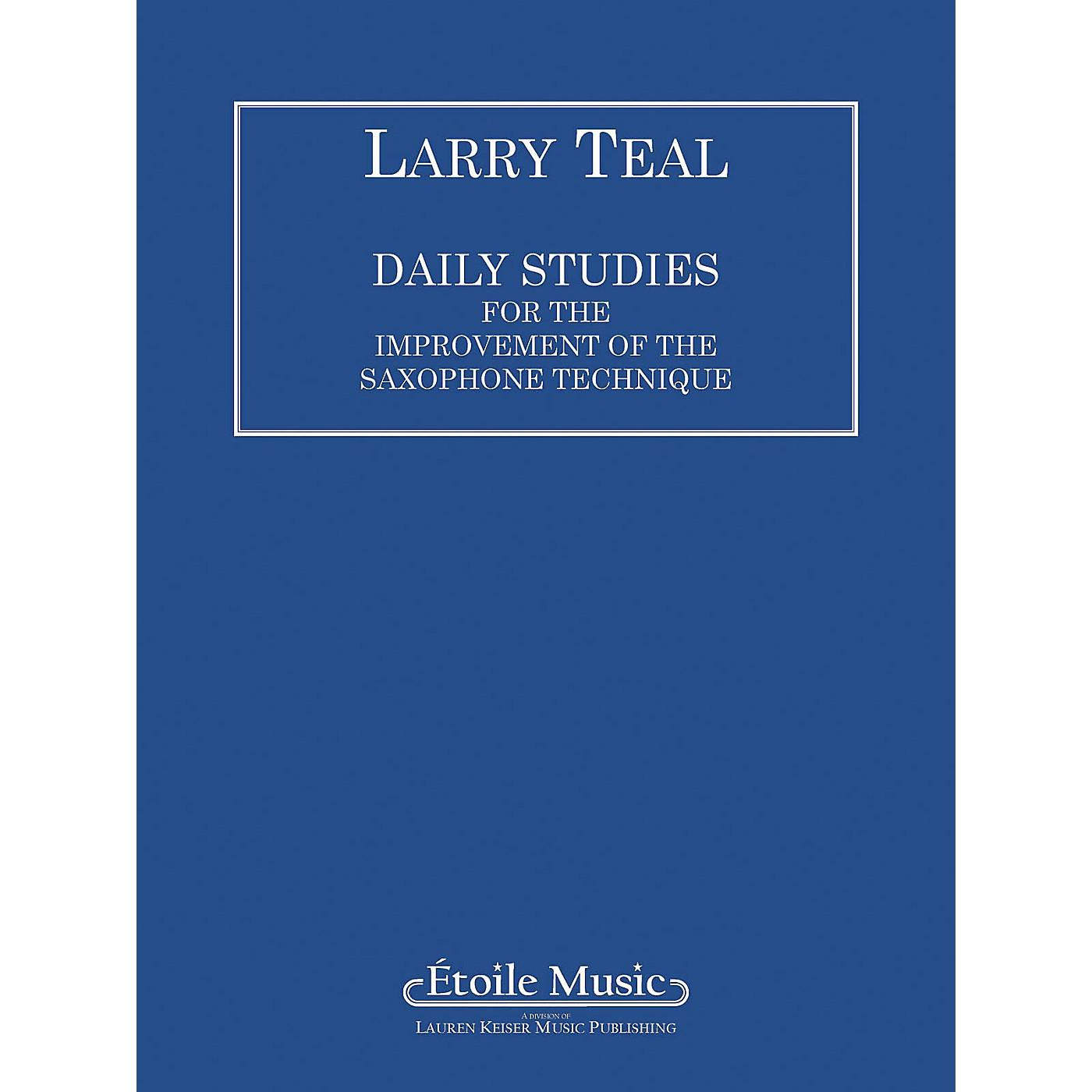 Lauren Keiser Music Publishing Daily Studies for the Improvement of the Saxophone Technique LKM Music Series thumbnail
