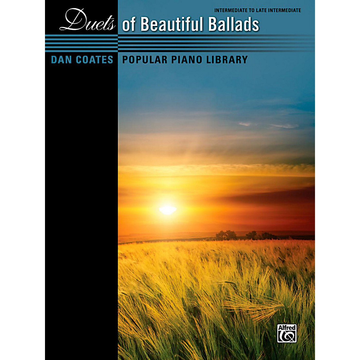 Alfred Dan Coates Popular Piano Library Duets of Beautiful Ballads Book thumbnail