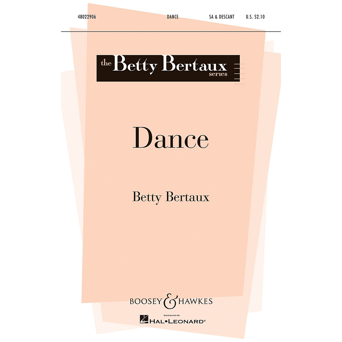Boosey and Hawkes Dance (Betty Bertaux Series) SA composed by Betty Bertaux thumbnail